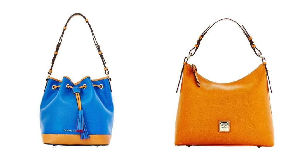 From Hobo To Drawstring Bucket Styles Dooney And Bourke Offers Leather Bags In Shades Ranging Cotton Candy Basic Black