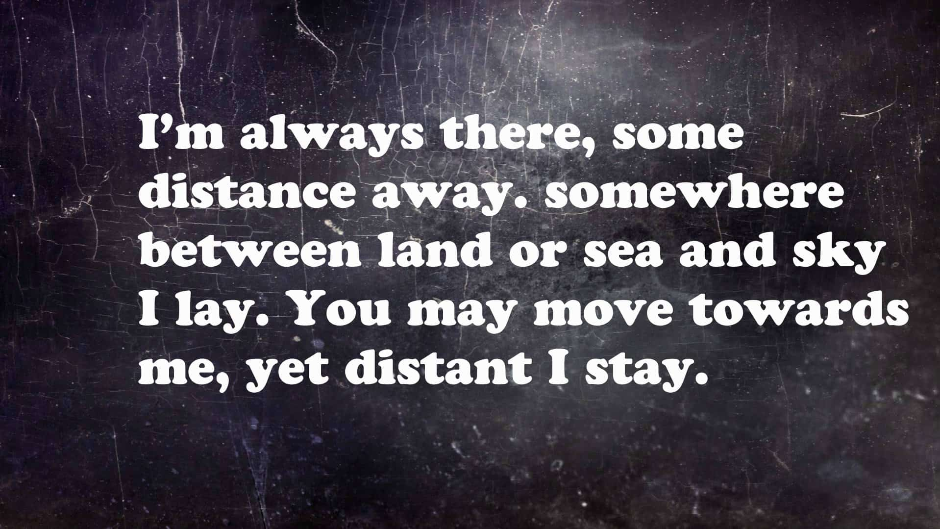 12 incredibly hard riddles that will drive you crazy hard riddle im always there some distance away publicscrutiny Gallery