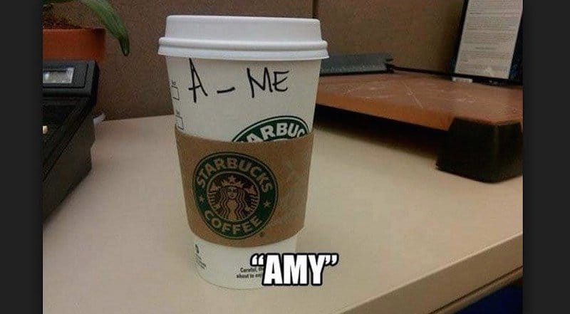 20 Hilarious Starbucks Name Fails