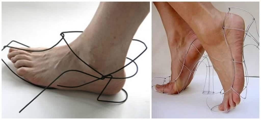 Yes You Guessed It These Shoes Are Made From Nothing But Wire It Seems As If The Designer Of These Shoes Went Backwards Shoes Are Meant To Protect Your