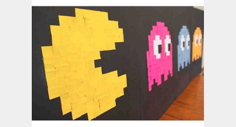 20 Works Of Art Done Completely Using Post It Notes
