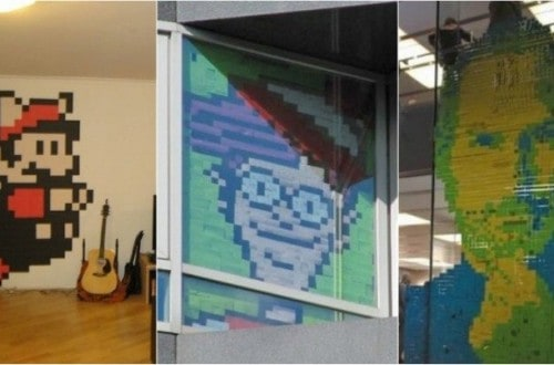 20 Works Of Art Done Completely Using Post-It Notes
