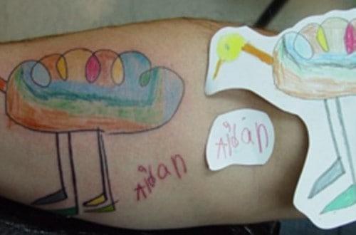 10 Brave Parents Who Got Their Kid's Art Tattooed