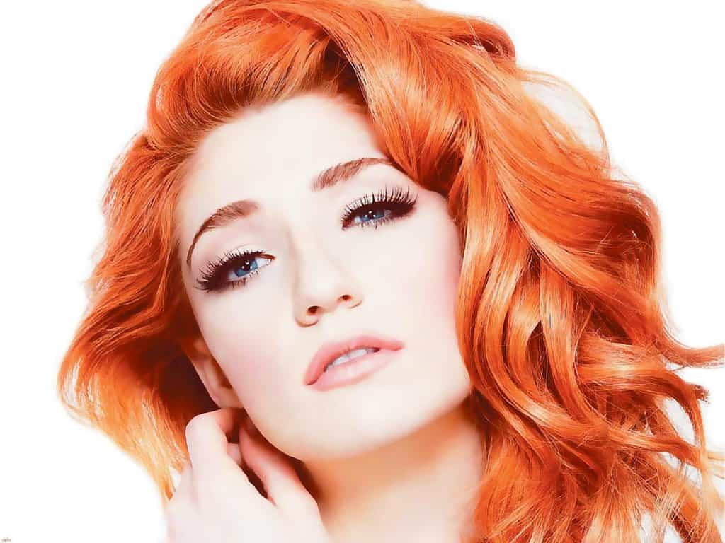 This pop star sure knows how to pull off gorgeous red hair and pale skin.  She has a rep for being hot-headed, but since she's a redhead, that makes  sense, ...