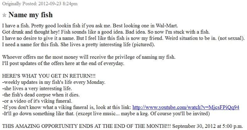 20 Unbelievably Strange Ads That Have Appeared On Craigslist