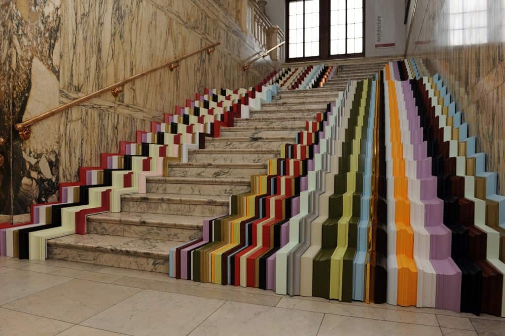 The Framed Staircase Was Commissioned By The Victoria U0026 Albert Museum In  London, In 2010. It Has 600 Meters Of Frame Profiles That Have Been Cut,  Sanded, ...