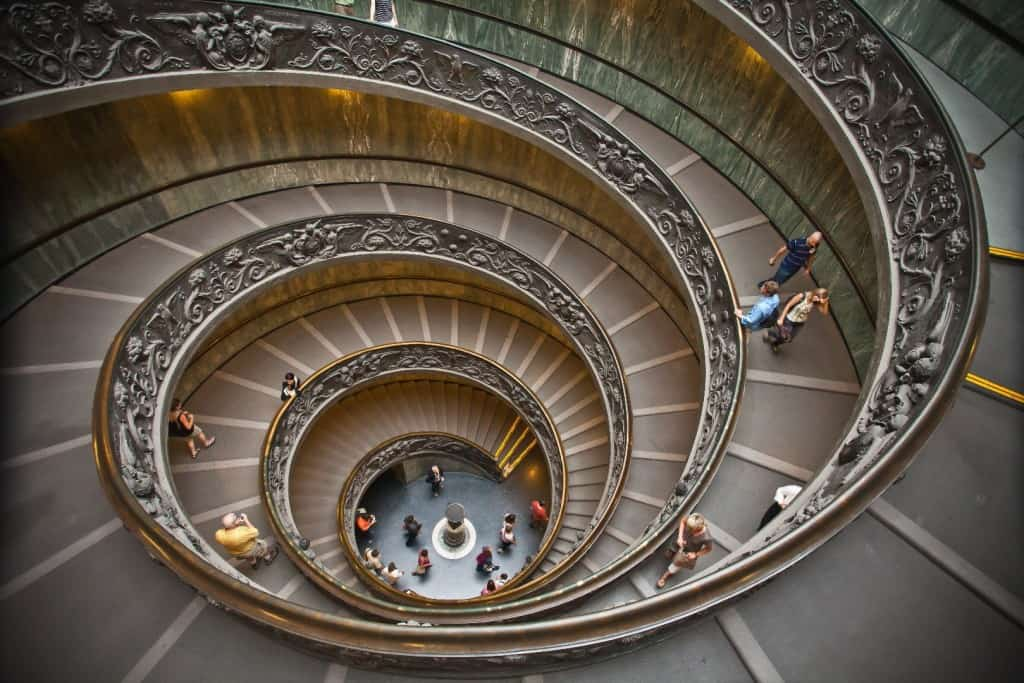 This Double Helix Staircaseu2014two Staircasesu2014at The Vatican Was Designed So  That Ascending And Descending Traffic Wouldnu0027t Pass Each Other.