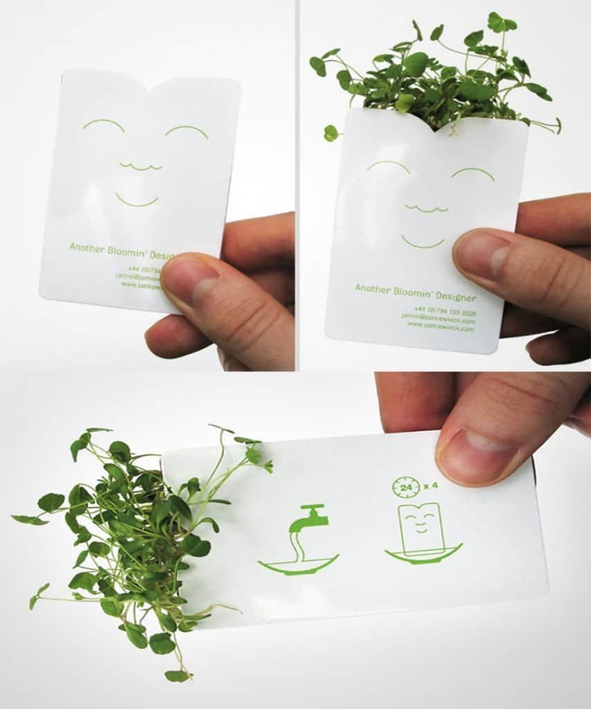20 creative business cards that have unique designs page 4 of 5 this is another great example of a business card used to highlight the companys product for a seed packet manufacturer creating a card that could double colourmoves