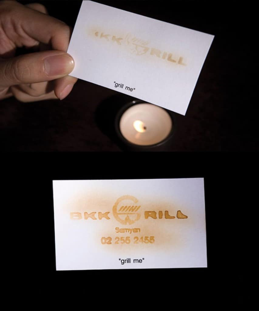 20 creative business cards that have unique designs this unique business card for a bbq and grill house relies on an old magic trick to make an impact the level of detail used to create the card makes it colourmoves