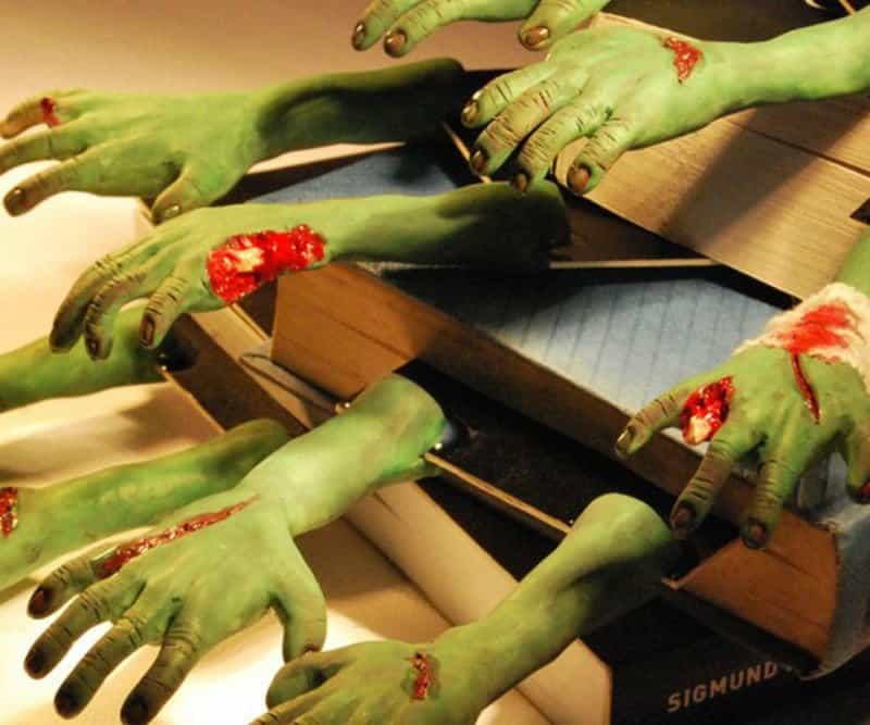20 most shocking zombie gifts for geeks these gruesome bookmarks from etsy would make great placeholders for your horror novels or even for guest gift bags at your zombie themed party negle Choice Image