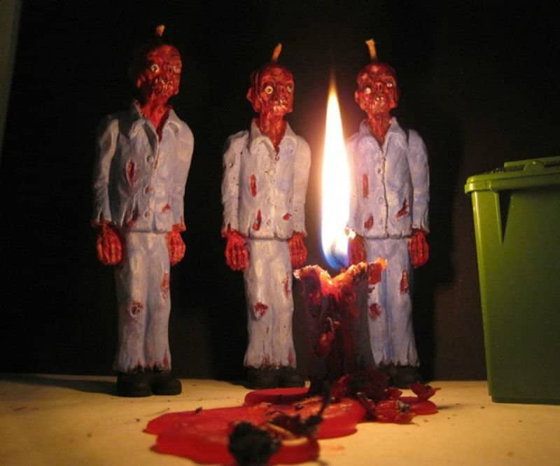 20 most shocking zombie gifts for geeks melting zombie candles negle Choice Image