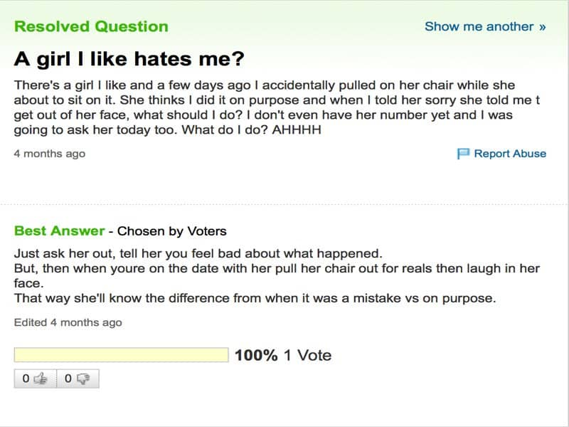 20 Of The Funniest Yahoo Questions And Answers Questions And Answers Funny