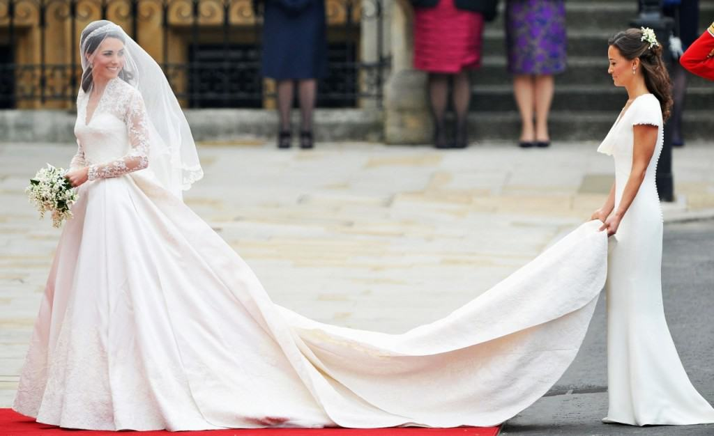 It Was The Fairy Tale Wedding Of A Lifetime When Kate Middleton Walked Down Aisle To Her Prince Wearing Sarah Burton For Alexander Mcqueen
