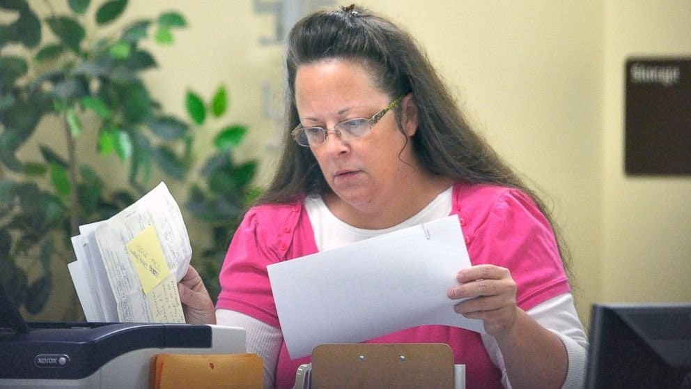 Kentucky Clerk Is Denying Gay Marriage, Says God Overrules Supreme Court