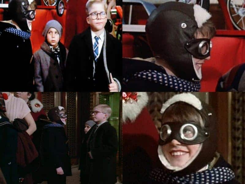the young boy in the scene where ralphie is waiting on santa and is wearing googles wasnt an actor he was a real boy that was in the department store at - A Christmas Story Pictures