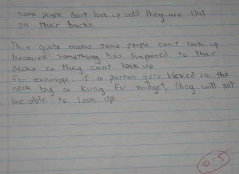 10 Of The Funniest Exam Answers You'll Ever See