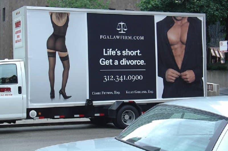 10 Funny And Shocking Divorce Ads