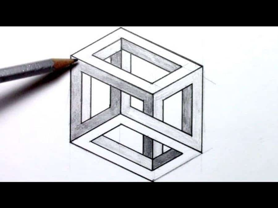 optical draw illusions drawings illusion funny drawing escher weird easy math impossible mc cool geometry tessellations square rectangle step pencil