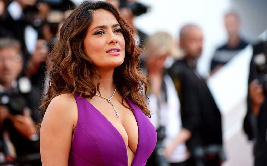 Mexican-American actress Salma Hayek has said she occasionally uses padding  to make her breasts really pop, but other than that they're completely  natural.