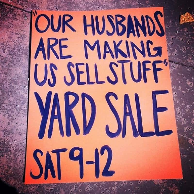 10 of the funniest yard sale signs