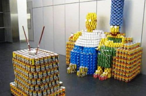 10 Brilliant and Innovative Arrangements Using Nothing But Cans