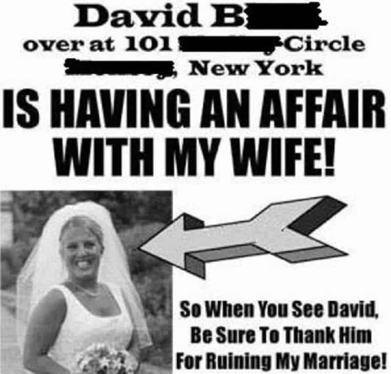 Karma of hookup a married man
