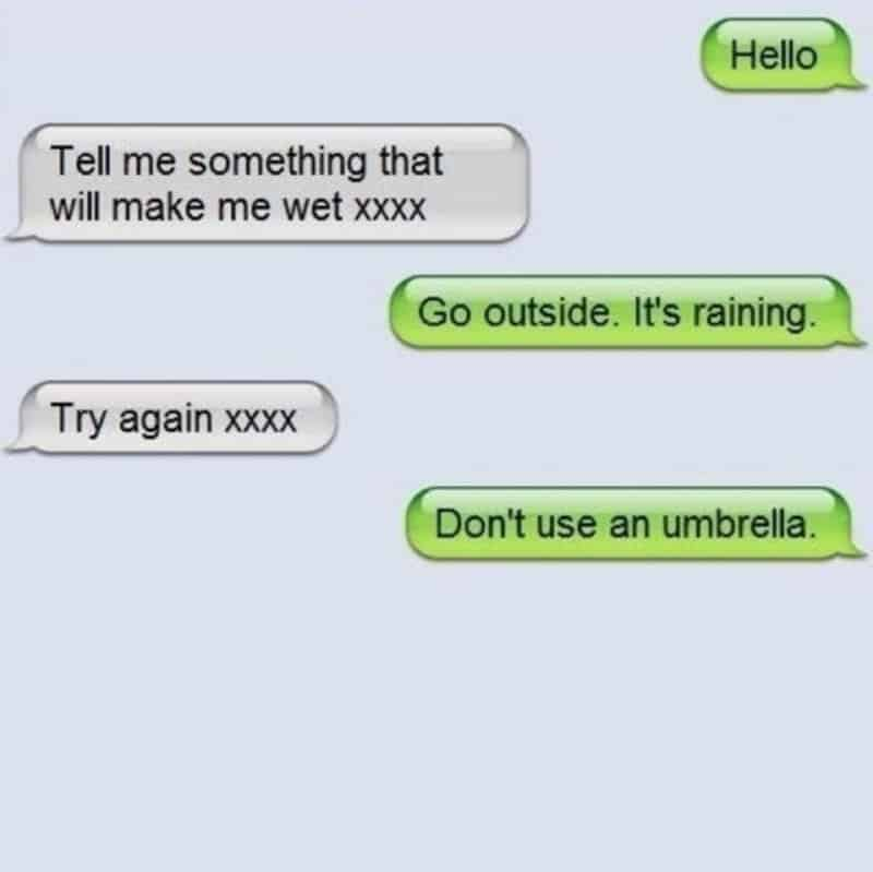 Witty text messages