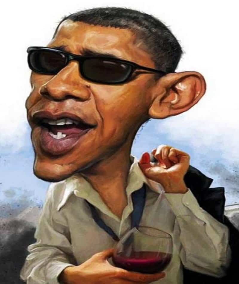 famous caricatures hilarious celebrity caricature obama president lolwot