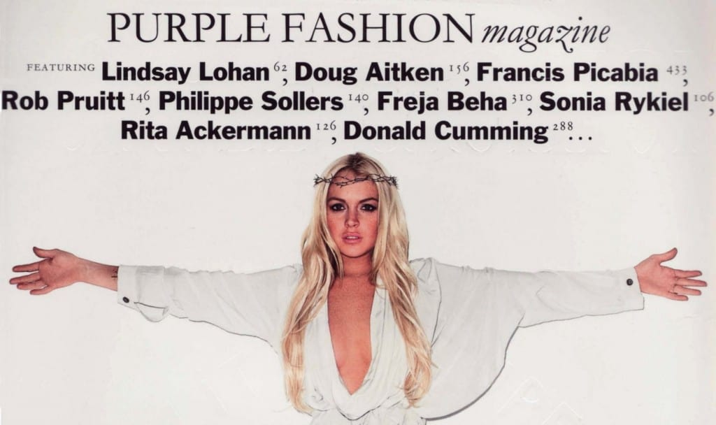The Cover Religious of Lindsay Lohan for Purple Magazine