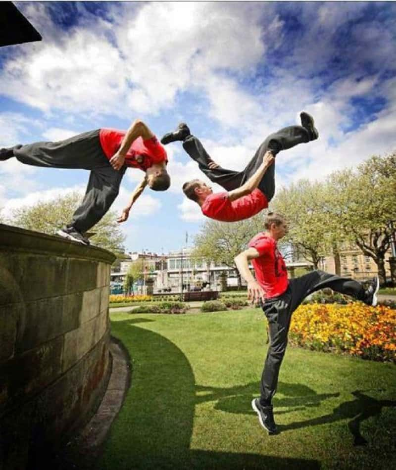 10 Of The Best Stills Of People Doing Parkour