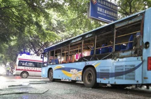 15 Injured In Bus Explosion In Southern China