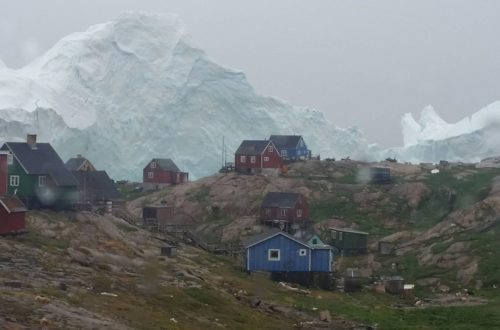 Gigantic Iceberg Threatens Tiny Village In Greenland