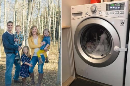 Terrifying Moment 3-Year-Old Gets Locked In A Washing Machine