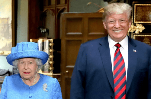 The Queen Trolled Trump With A Brooch During His Visit